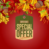 Autumn sale label. Special offer. Royalty Free Stock Photo
