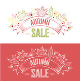 Autumn sale label Royalty Free Stock Photo