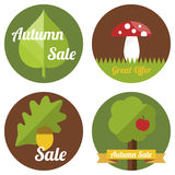 Autumn sale labels Stock Photography