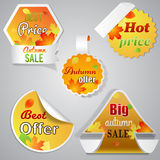 Autumn sale labels Royalty Free Stock Photos