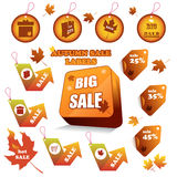 Autumn sale labels Royalty Free Stock Image