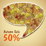 Autumn sale leaves bubble Stock Images