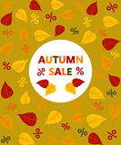Autumn sale Royalty Free Stock Photography