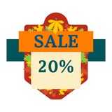 Autumn sale logo vector Royalty Free Stock Images