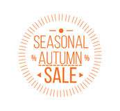 Autumn sale Logotypet. Special offer badge. Autumn sale Logotype. Special offer badge or label and ribbon, element with leaves, banner. Vector Illustration Stock Photo