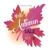 Autumn Sale Royalty Free Stock Image