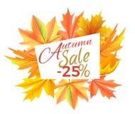 Autumn Sale -25 outre de l'illustration de vecteur d'icône Photos libres de droits
