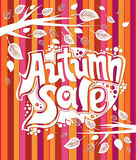 Autumn sale. Royalty Free Stock Photo