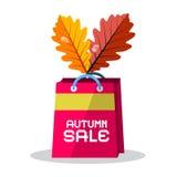 Autumn Sale Pink Paper Shopping-Zak royalty-vrije illustratie