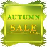 Autumn sale poster vector illustration