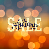 Autumn Sale poster royalty free illustration