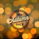 Autumn Sale poster bokeh background Stock Images