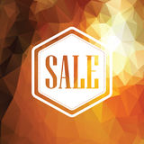 Autumn sale poster. Discounts banner template. Polygonal geometric background design. Foliage fall colors. Eps10 vector illustration Stock Images