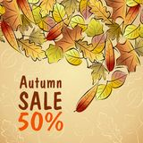 Autumn Sale poster. Sale poster with autumn leaves Royalty Free Stock Photo