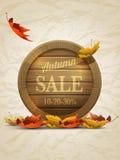 Autumn Sale Poster Template Fotografie Stock