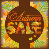 Autumn sale poster Stock Photos