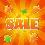 Autumn sale poster Stock Photography