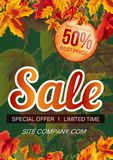 Bright template of sale banner royalty free illustration