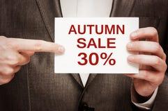 Autumn Sale 30 Prozent heruntergesetzt Lizenzfreies Stockbild