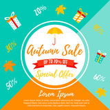 Autumn SALE RETAIL TEMPLATE, promotion, advertising Stock Images