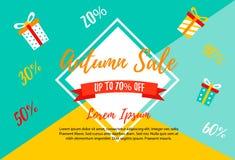 Autumn SALE RETAIL TEMPLATE, promotion, advertising Royalty Free Stock Photos