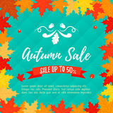 Autumn sale retail template, promotion, advertising Royalty Free Stock Image