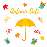 Autumn SALE RETAIL TEMPLATE, promotion, advertising Stock Image