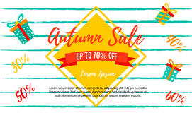 Autumn SALE RETAIL TEMPLATE, promotion, advertising Stock Photo