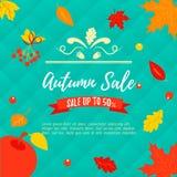 Autumn SALE RETAIL TEMPLATE, promotion, advertising Royalty Free Stock Photo