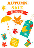 Autumn SALE RETAIL TEMPLATE set, promotion, advertising Stock Images