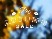Autumn sale  retro poster Stock Photo