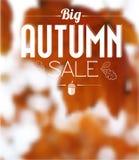 Autumn sale  retro poster Stock Photography