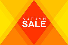Autumn sale in rhombus Stock Photography