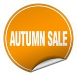 Autumn sale sticker. Autumn sale round sticker isolated on wite background. autumn sale Stock Photos