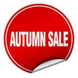 Autumn sale sticker. Autumn sale round sticker isolated on wite background. autumn sale Royalty Free Stock Images