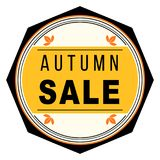 Autumn sale seal shape label. Or sticker Royalty Free Stock Images