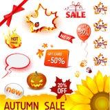 Autumn Sale Set Royalty Free Stock Photos