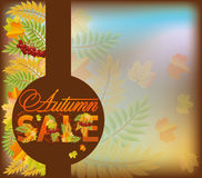 Autumn sale shop card Royalty Free Stock Photography