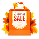 Autumn Sale Shopping Bag Fotos de archivo