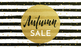 Autumn sale shopping discount vector poster fall gold pattern web banner Royalty Free Stock Photos