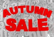 Autumn sale sign Stock Photo