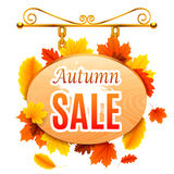 Autumn Sale Signboard Royalty Free Stock Image