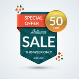 Autumn sale and special offer banner Stock Photography