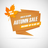Autumn Sale. Special offer banner, discount up to 50% off. End of season. Shop now! Stock Images