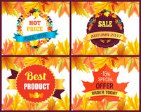 Autumn 2017 Sale Special Offer Vector Illustration. Autumn 2017 sale special offer with beautiful labels surrounded by yellowed foliage. Vector illustration with Stock Photo