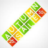 Autumn sale squares template Royalty Free Stock Photo