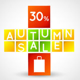 Autumn sale squares template Royalty Free Stock Photos