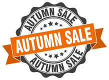 Autumn sale stamp. Sign. seal Stock Photos