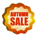 Autumn sale starlike label Stock Photos