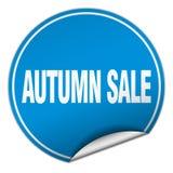 Autumn sale sticker. Autumn sale round sticker isolated on wite background. autumn sale Stock Photography